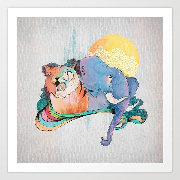 THAI FRIENDS Art Print