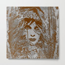 Maiden of the forest (sepia) Metal Print