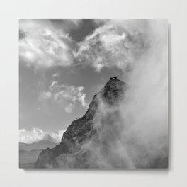 Foggy mountains. Boca de la pesca.1.518 meters. BW Metal Print