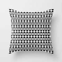 lunar Throw Pillows featuring Lunar by MANYOUFACTURE