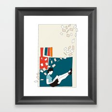 Papers Framed Art Print