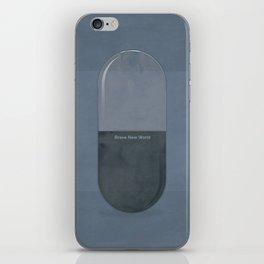 "Aldous Huxley ""Brave New World"" - Minimalist illustration literary design, bookish gift iPhone Skin"