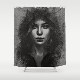 black mamba Shower Curtain
