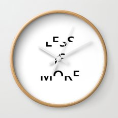 Less is More II Wall Clock