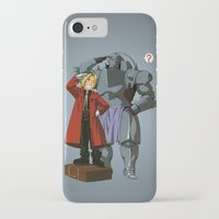 fullmetal alchemist iPhone & iPod Cases featuring Alchemist of Steel by CromMorc