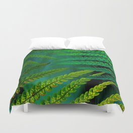 Forest Fern Green Duvet Cover