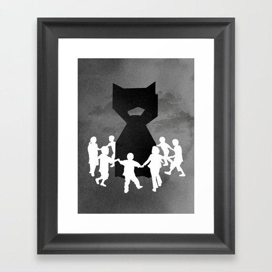 We All Fall Down Framed Art Print