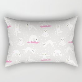 Yoga Cats Rectangular Pillow
