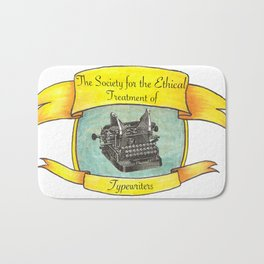 The Society for the Ethical Treatment of Typewriters Bath Mat