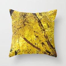 Yellow Drip Throw Pillow