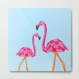Disco Flamingo Metal Print