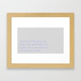 Fredas I'm In Love Framed Art Print