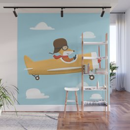 Mr. Fox is Flying Wall Mural