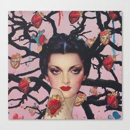 Hearts grow on trees Canvas Print