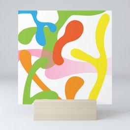 Coloured shapes Mini Art Print