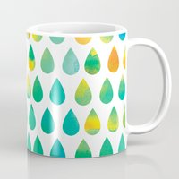 rain Mugs featuring Monsoon Rain by Picomodi