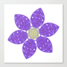 Violet Celtic Knot Flower Canvas Print