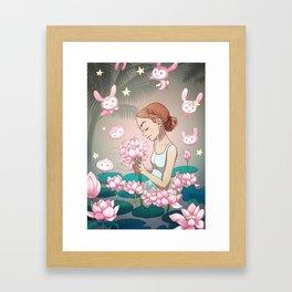 Lotus Heart Framed Art Print