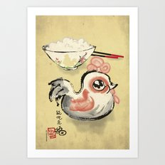 The Asian Chicken Rice Bowl Art Print
