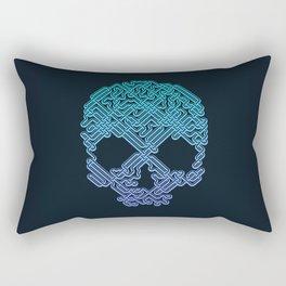 Labyrinthine Skull - Neon Rectangular Pillow