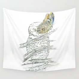 Miss Owl and Butterfly friend Wall Tapestry