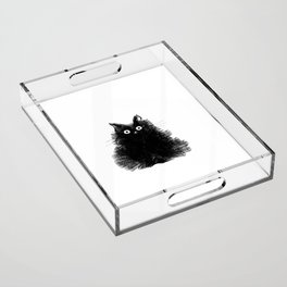 Duster - Black Cat Drawing Acrylic Tray