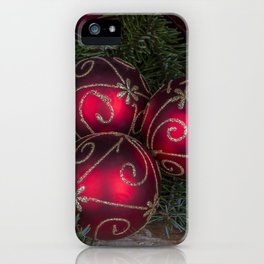 Red Christmas Balls iPhone Case