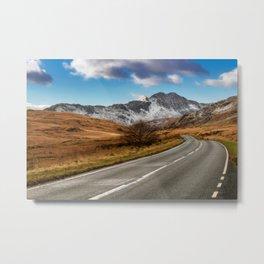 Wnter Scenery Snowdonia Metal Print