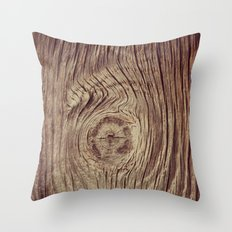 Vintage Weathered Wood Throw Pillow