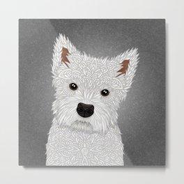 Cute West Highland Terrier Portrait Metal Print