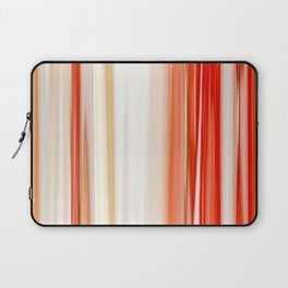 living coral pink white striped pattern Laptop Sleeve