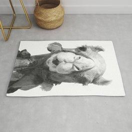 Black and White Camel Portrait Rug