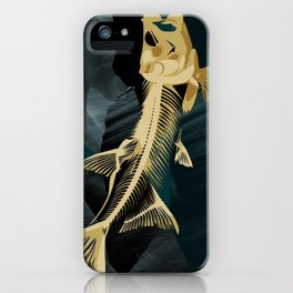 Catch the golden fish iPhone Case