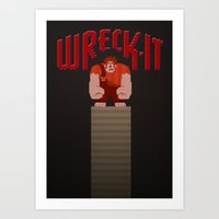 wreck it ralph Art Prints featuring Wreck-It Ralph by Jynxit