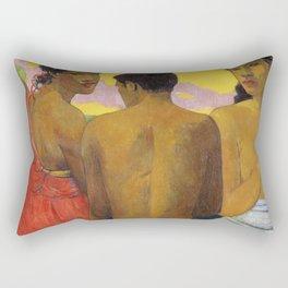 Three Tahitians by Paul Gauguin Rectangular Pillow