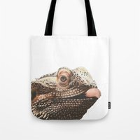 transparent Tote Bags featuring Transparent Beardie by Megan Coyne