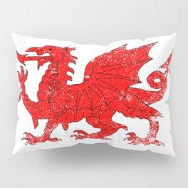 Welsh Dragon With Grunge Pillow Sham