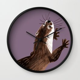 Asian small-clawed otter (Grapeade) Wall Clock