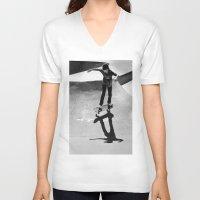 skateboard V-neck T-shirts featuring Skateboard by Chiarra Mandato