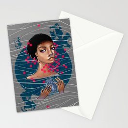 cold as heart Stationery Cards