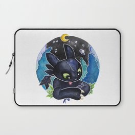 Baby Toothless Night Fury Dragon  Watercolor white bg Laptop Sleeve