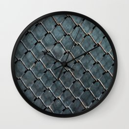 Wire and glass background texture pattern close detail Wall Clock
