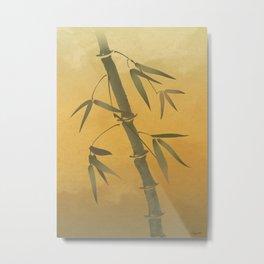 Bending Bamboo Metal Print