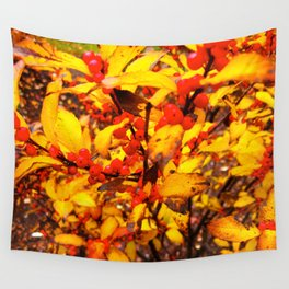 Red and Yellow Wall Tapestry