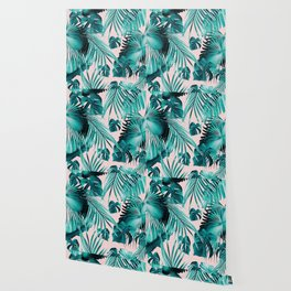 Tropical Jungle Leaves Dream #4 #tropical #decor #art #society6 Wallpaper