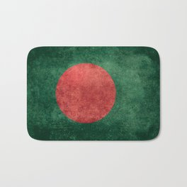 Bangladeshi Flag in retro grunge Bath Mat