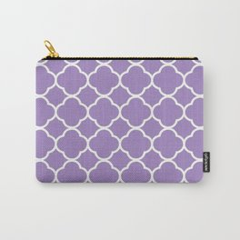 Vinage Tile in Purple Carry-All Pouch