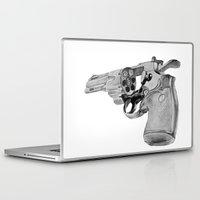 gun Laptop & iPad Skins featuring gun by VoicesRantOn