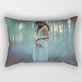 Girl in forest 2 Rectangular Pillow