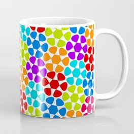 Multi-Coloured Flower Pattern Coffee Mug